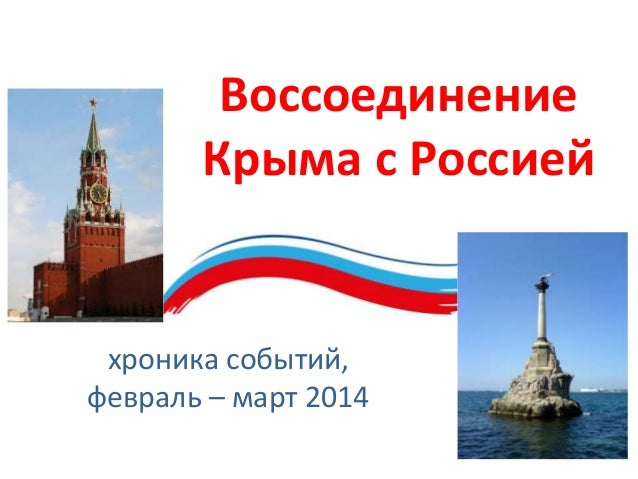 хроника событий, февраль – март 2014 Воссоединение Крыма с Россией