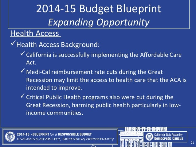 2014 15 Blueprint For A Responsible Budget California