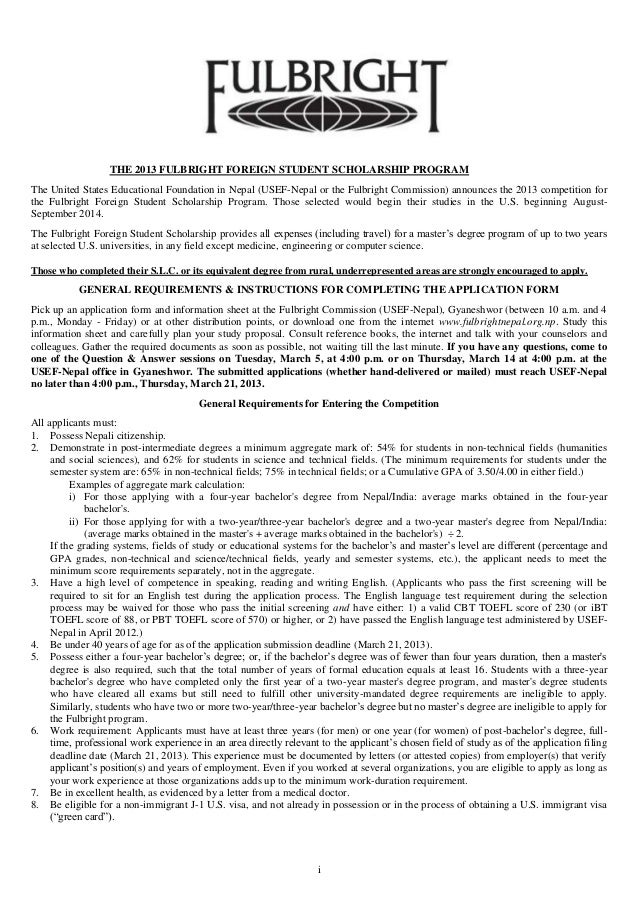 Personal Statement For Fulbright Scholarship - Sample Personal