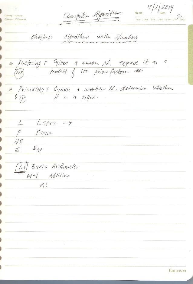 2014-1 computer algorithm w2 notes