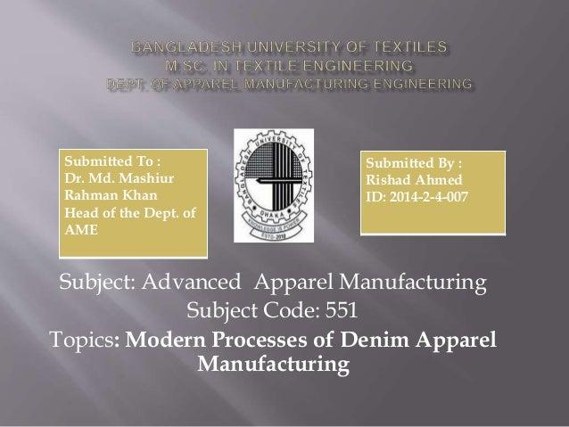 2014 2-4-07 denim apparel manufacturing Slide 2