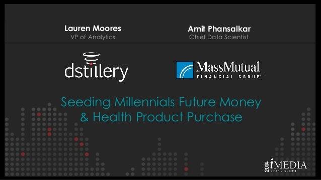 Lauren Moores VP of Analytics  Amit Phansalkar Chief Data Scientist  Seeding Millennials Future Money & Health Product Pur...
