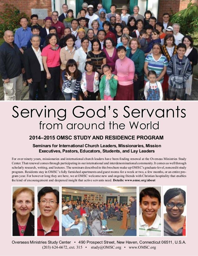 Seminars for International Church Leaders, Missionaries, Mission Executives, Pastors, Educators, Students, and Lay Leaders...