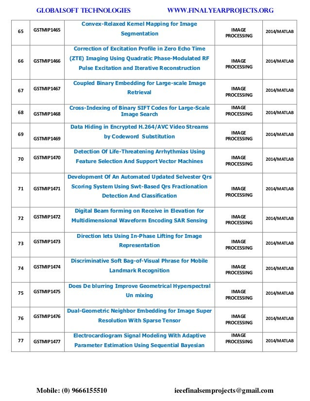 2014 2015 ieee matlab projects lists