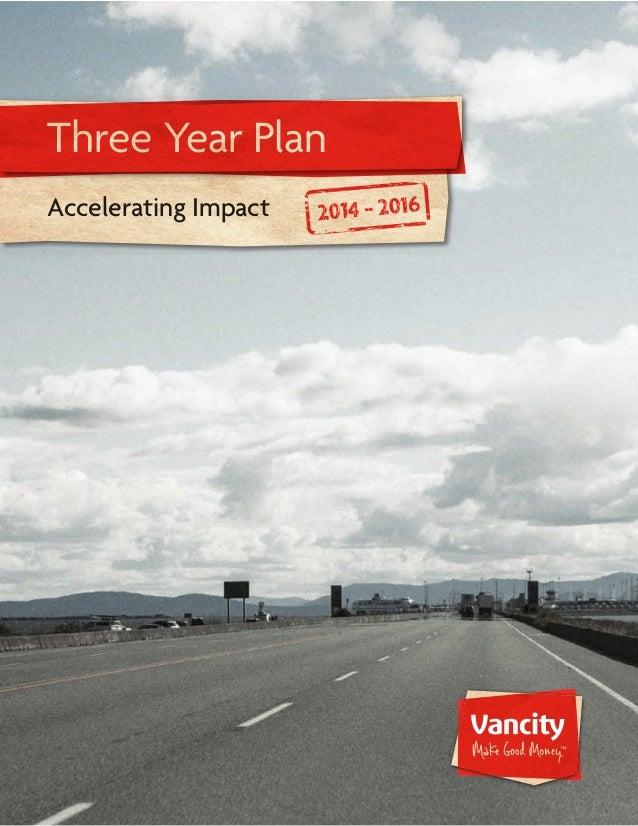 1 of 23 Three Year Plan Accelerating Impact