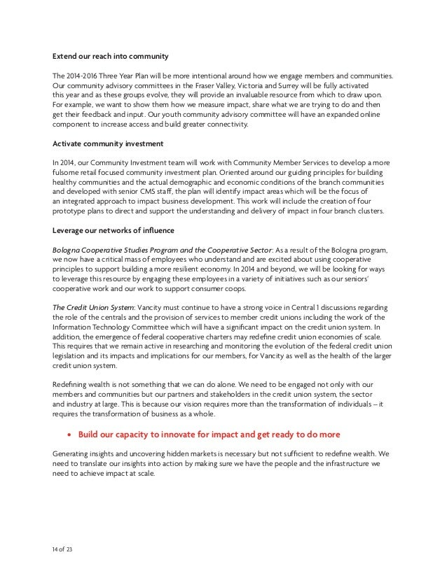 vancity business plan template