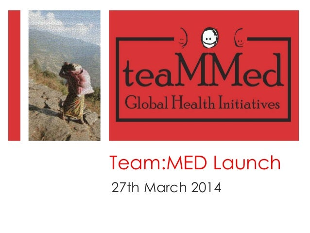 Team:MED Launch 27th March 2014