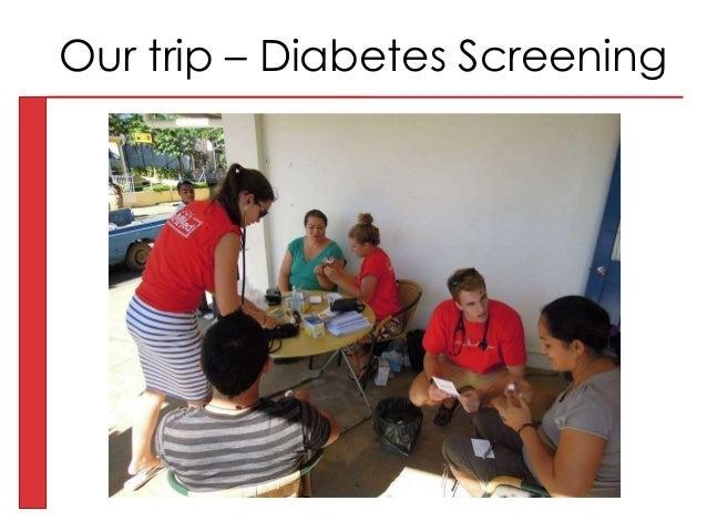 Our trip – Diabetes Screening