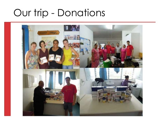 Our trip - Donations