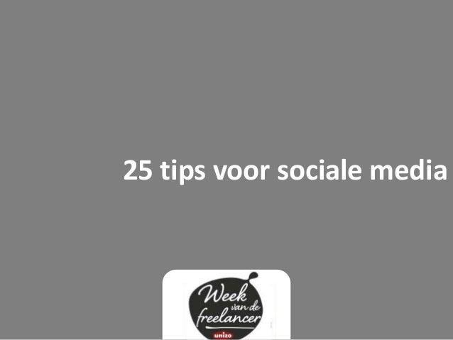 25 tips voor sociale media