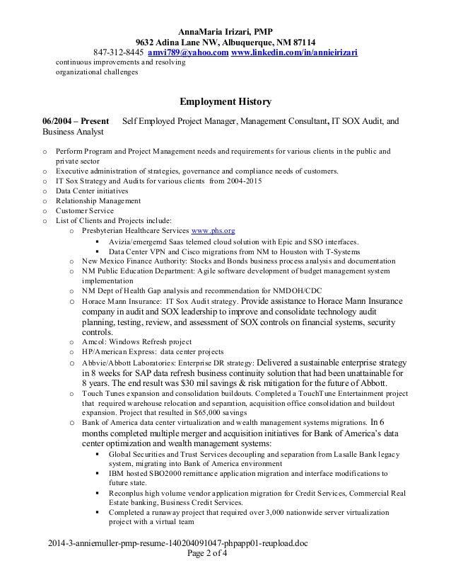 pmp resume gallery resume format examples 2018