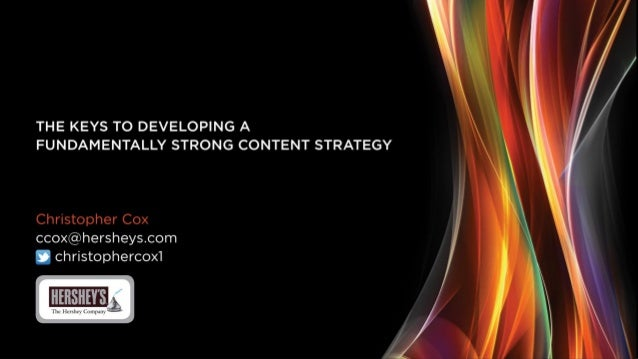 """Opening Keynote: """"The Keys to Developing a Fundamentally-Strong Content Strategy"""""""
