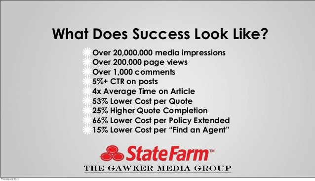 "State Farm Quotes Awesome Case Study ""state Farm & Gawker Getting Readers To A Better State O…"