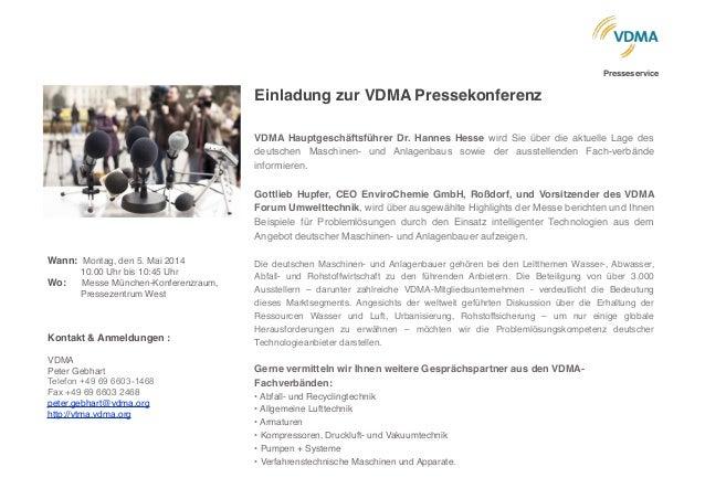VDMA Presseservice zur IFAT Slide 3