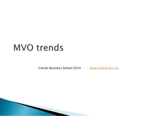 Calvijn Business School 2014 www.workforfun.nu