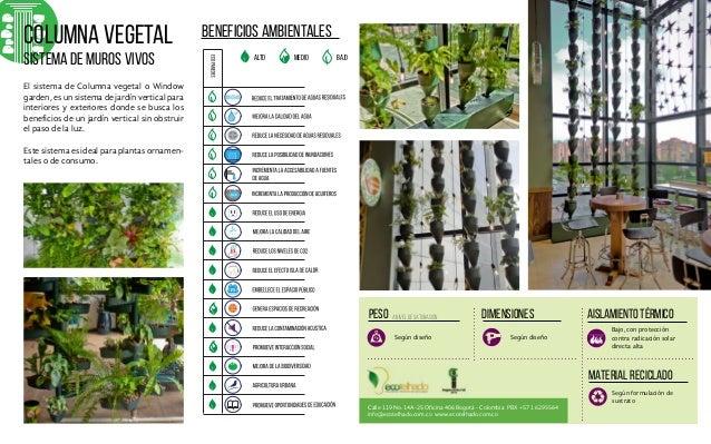 2014 catalogo de productos ecotelhado jardines for Sistema de riego jardin vertical