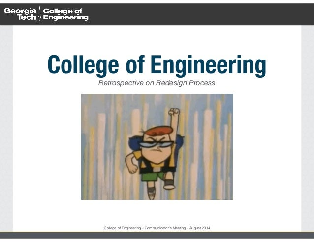 College of Engineering - August 2014 Website Retrospective