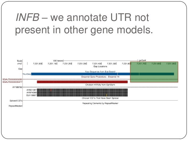 INFB – we annotate UTR not present in other gene models.