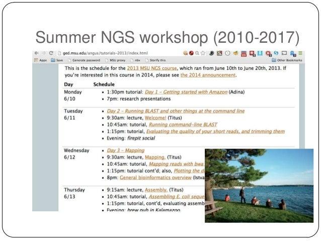 Summer NGS workshop (2010-2017)