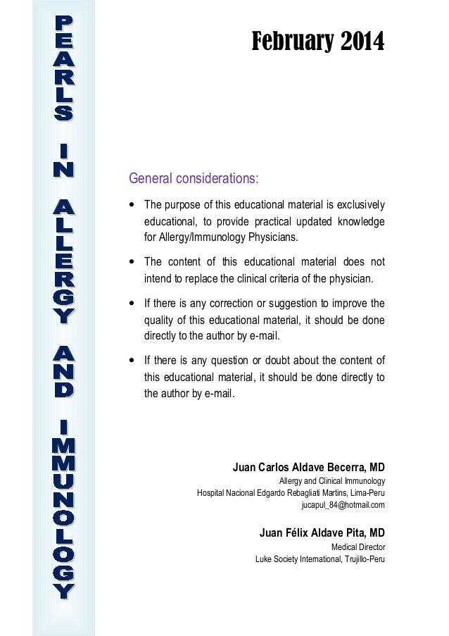 February 2014  General considerations: • The purpose of this educational material is exclusively educational, to provide p...