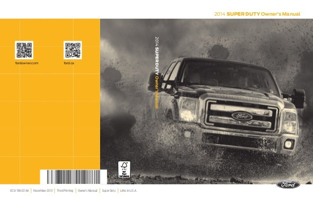 2014 ford f series super duty owners manual httpava avto 2014 super duty owners manual ec3j 19a321 aa november 2013 third printing owners sciox Images