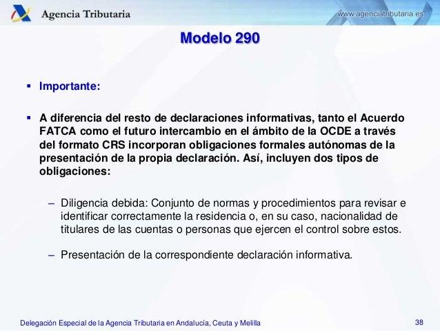 Delegación Especial de la Agencia Tributaria en Andalucía, Ceuta y Melilla Modelo 290  Importante:  A diferencia del res...