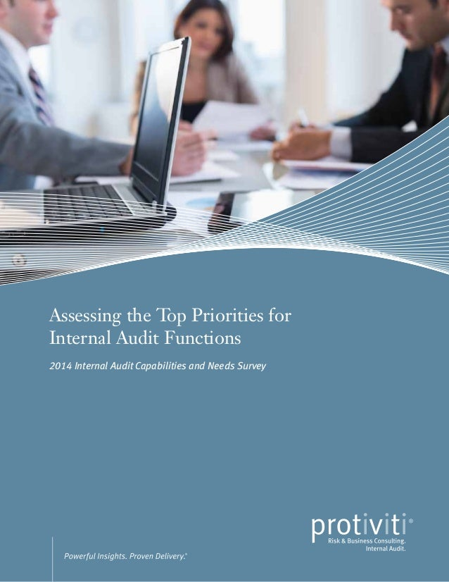 Assessing the Top Priorities for Internal Audit Functions 2014 Internal Audit Capabilities and Needs Survey