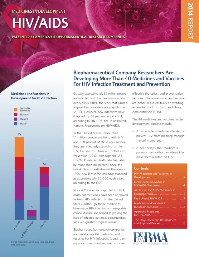 2014 REPORT  PRESENTED BY AMERICA'S BIOPHARMACEUTICAL RESEARCH COMPANIES  Biopharmaceutical Company Researchers Are  Devel...