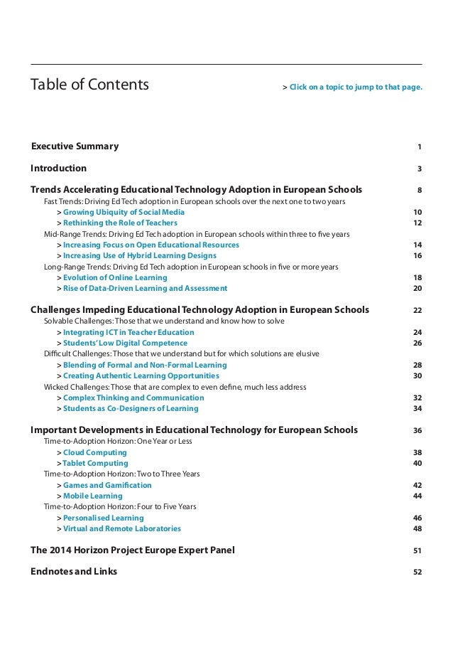 Horizon Report Europe  2014 Schools Edition