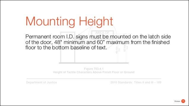 Bathroom Sign Mounting Height ada bathroom sign mounting height. ada standards height standards