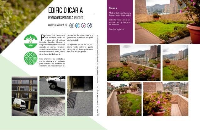 portafolio de proyectos ecotelhado techos verdes jardines verticales pavimentos permeables suds