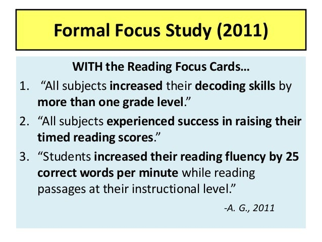Reading Focus Cards, Solutions for Struggling Readers-2014 (Patent 7,…