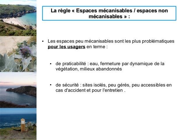 La règle «Espaces mécanisables / espaces nonLa règle «Espaces mécanisables / espaces non mécanisables» :mécanisables» ...