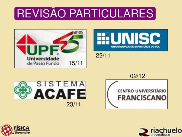 REVISÃO PARTICULARES  15/11  22/11  23/11  02/12