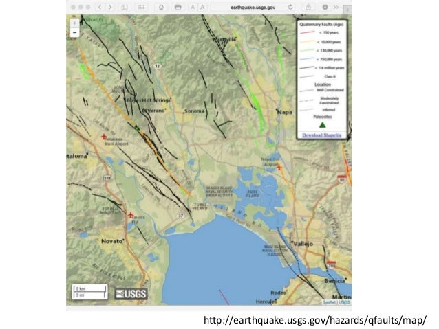 Napa Earthquake Map