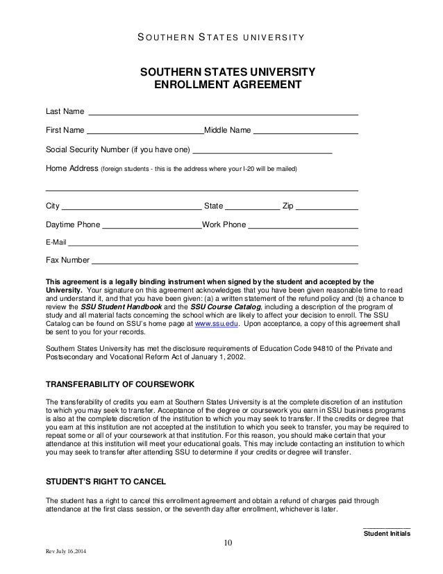 Student Agreement Contract Student Project Contract 5 Project