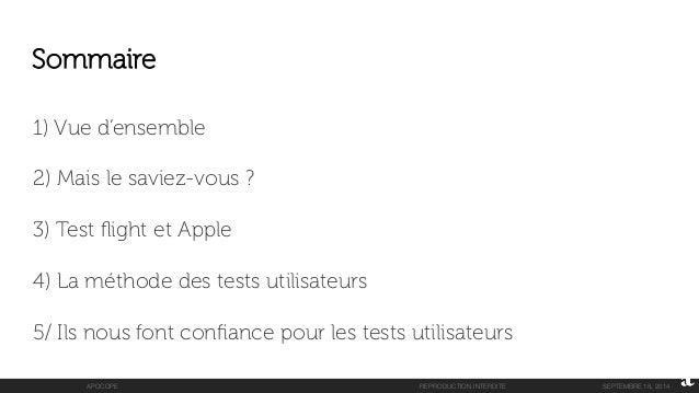 Les tests utilisateurs avec TestFlight d'Apple sous iOS8.0 Slide 2