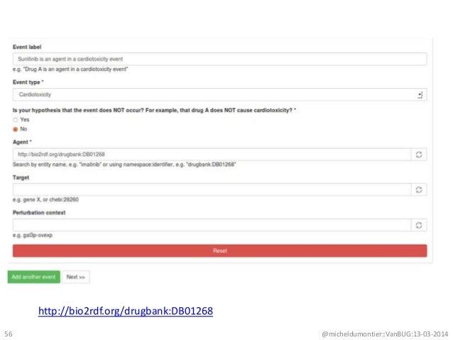 @micheldumontier::VanBUG:13-03-201456 http://bio2rdf.org/drugbank:DB01268