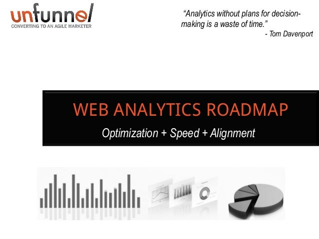 """""""Analytics without plans for decisionmaking is a waste of time."""" - Tom Davenport  WEB ANALYTICS ROADMAP Optimization + Spe..."""