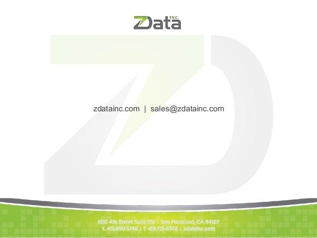 zdatainc.com   sales@zdatainc.com