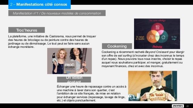 Manifestation n°1 / De nouveaux modèles de consommation La plateforme, une initiative de Castorama, nous permet de troquer...