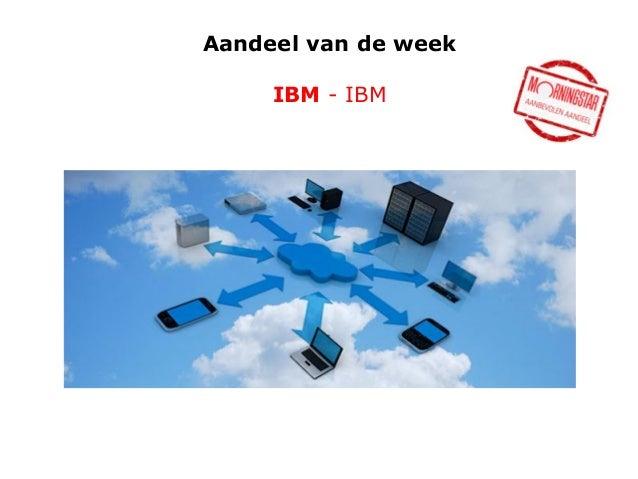 Aandeel van de week  IBM - IBM