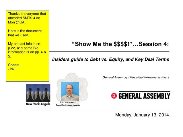 Thanks to everyone that attended SMT$ 4 on Mon @GA. Here is the document that we used. My contact info is on p.22, and som...