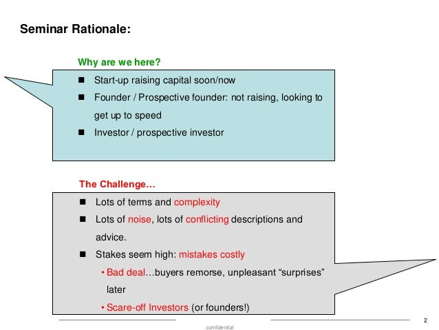 Show Me the Money:  Converible Debt Vs. Preferred Equity for Seed Fundraising  Slide 3