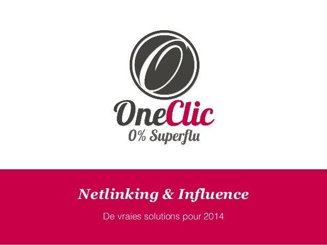 Netlinking & Influence De vraies solutions pour 2014