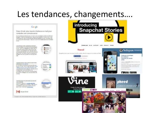 Les tendances, changements….