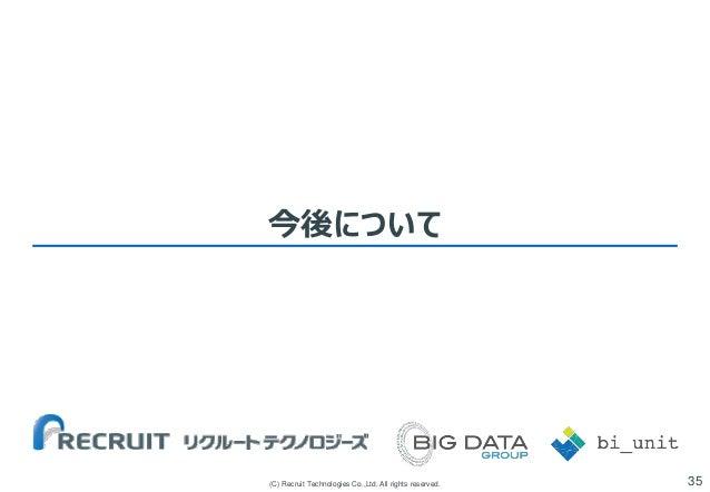 今後について  (C) Recruit Technologies Co.,Ltd. All rights reserved.  35