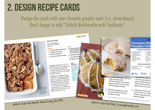 Make Speaking Recipe Cards (with SayBooks)