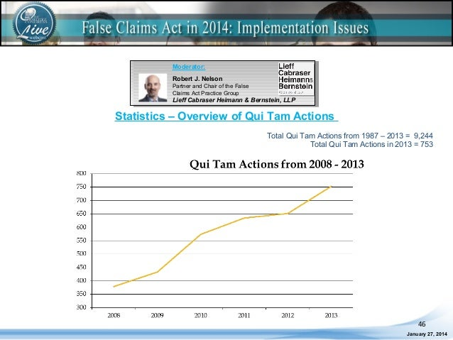 False Claims Act in 2014: Implementation Issues LIVE Webcast