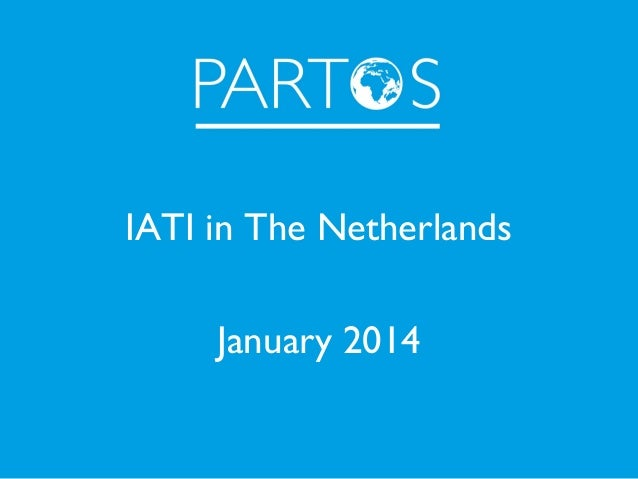 IATI in The Netherlands January 2014